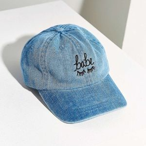 urban outfitters 'babe' denim hat